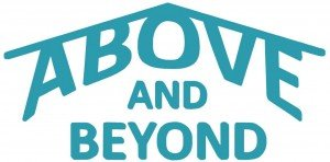 Above and Beyond logo blue